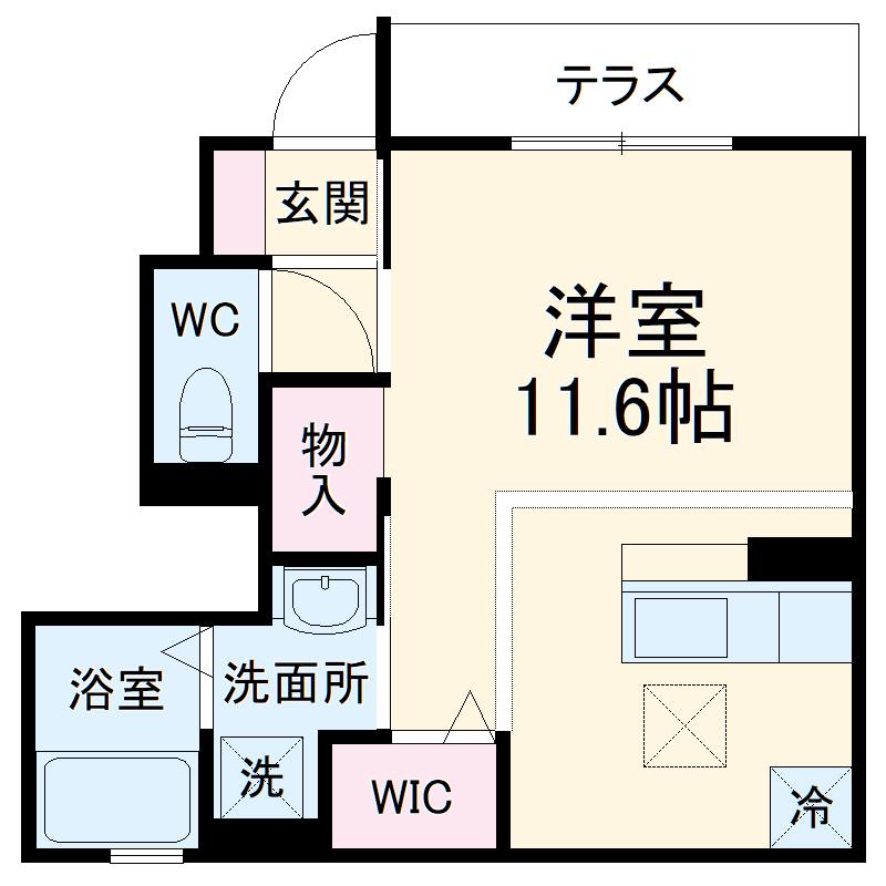 (仮称)D-room小曽根4丁目 102号室の間取り