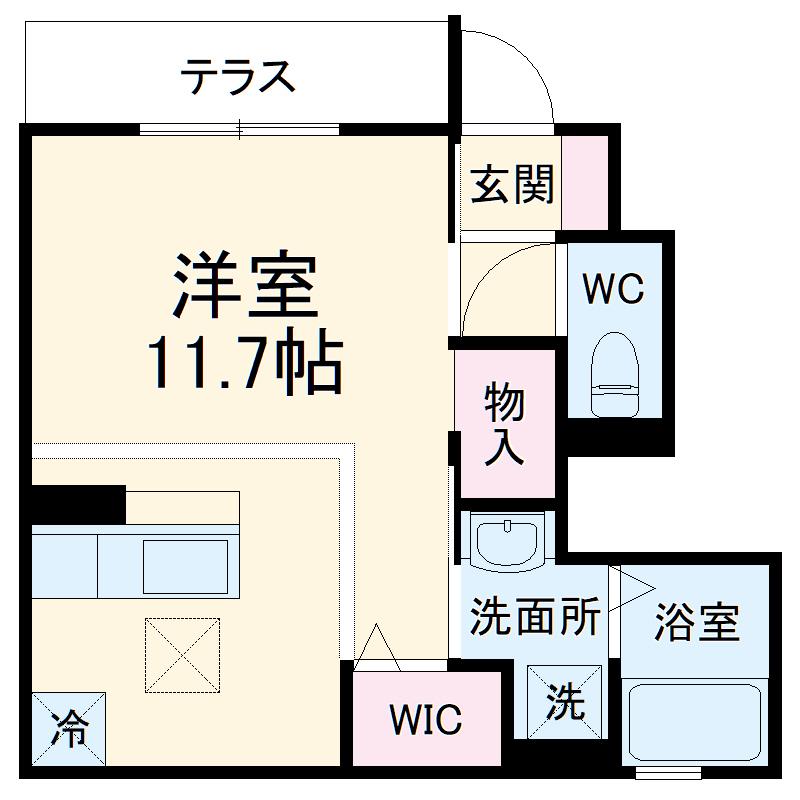(仮称)D-room小曽根4丁目 103号室の間取り