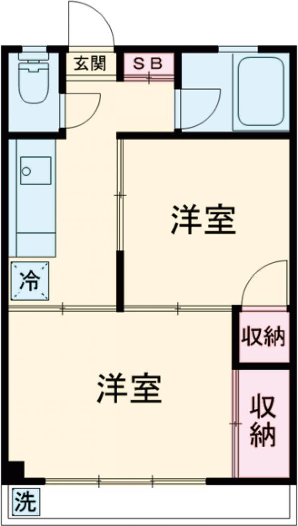 小倉コーポ・102号室の間取り