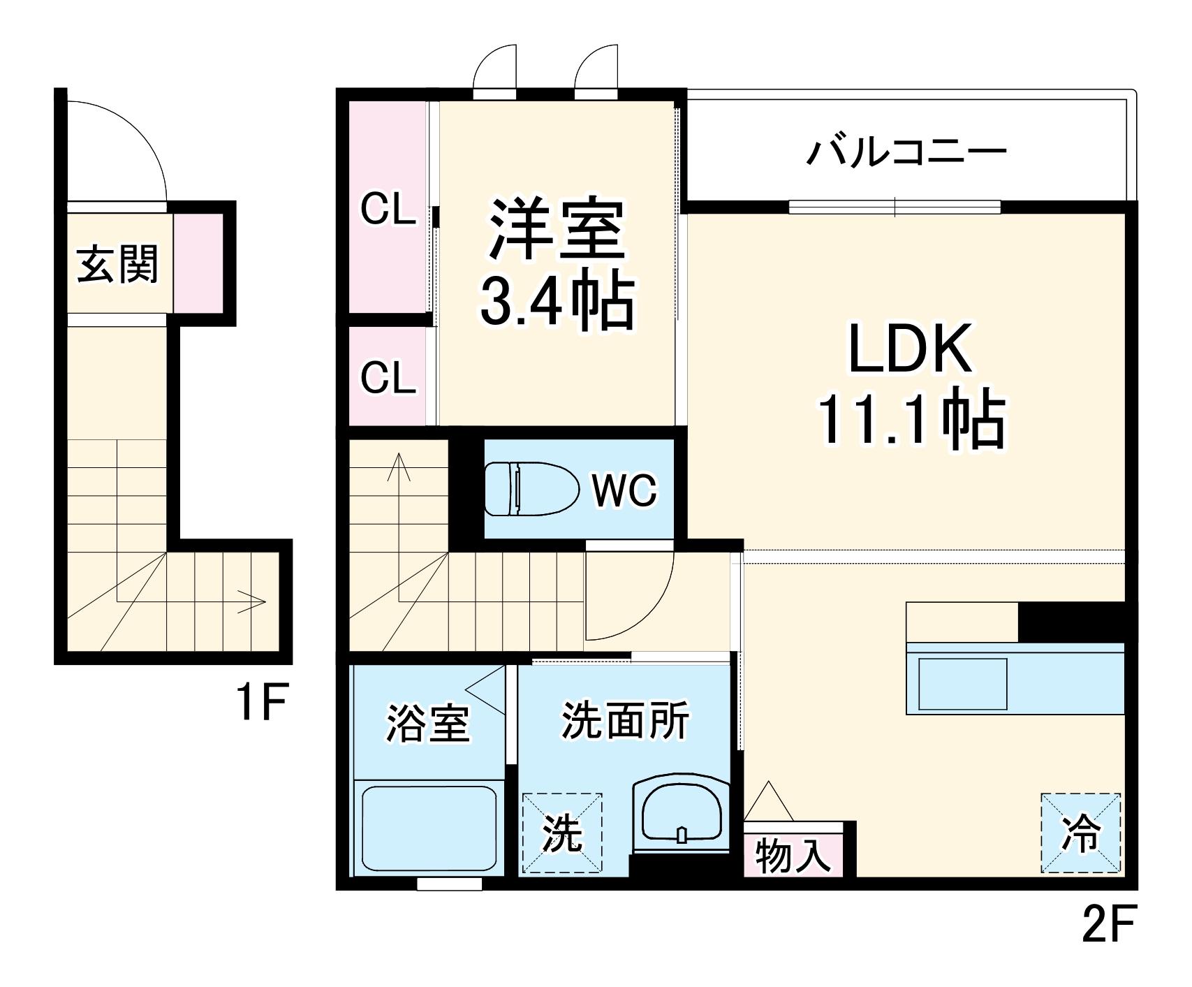 (仮称)D-room小曽根4丁目 202号室の間取り
