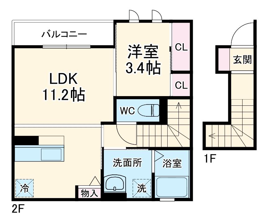 (仮称)D-room小曽根4丁目 203号室の間取り