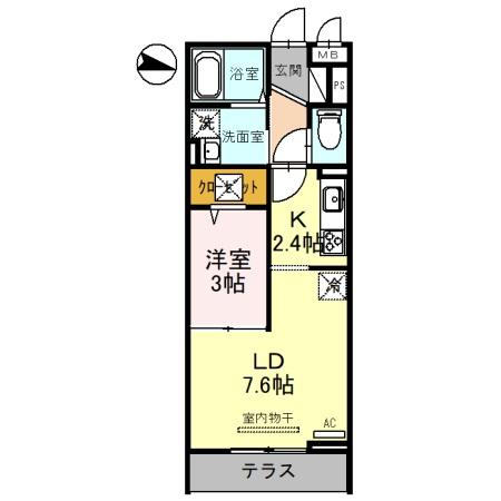 (仮)D-Room吉川保1丁目B 103号室の間取り
