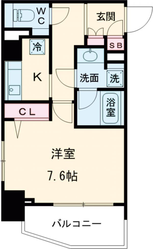 HF早稲田レジデンス・417号室の間取り