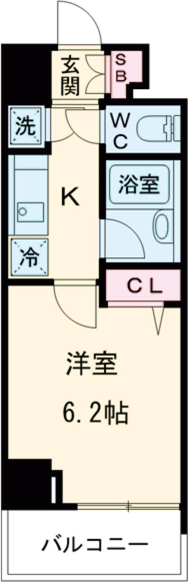 HF早稲田レジデンス 1103号室の間取り