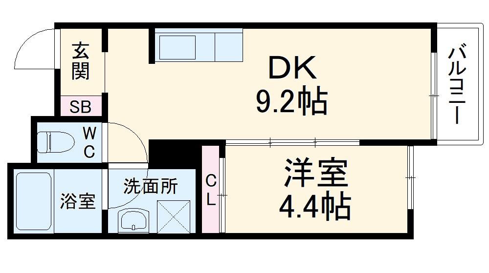 Wind Bell栄本町・102号室の間取り