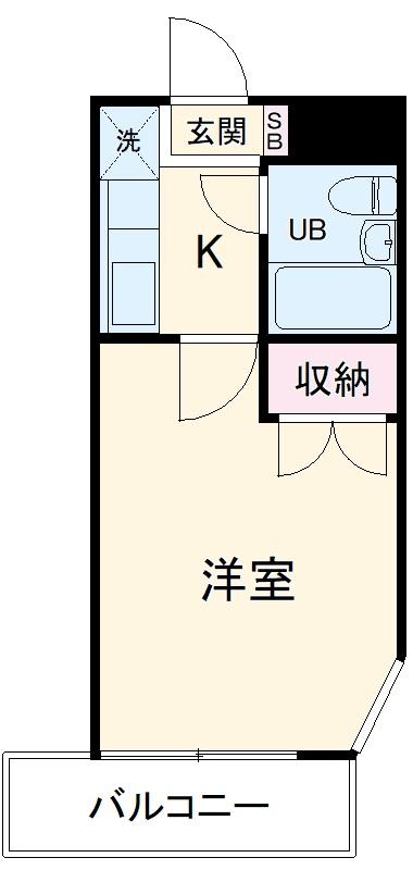 藤沢・KC湘南ハイツ・205号室の間取り