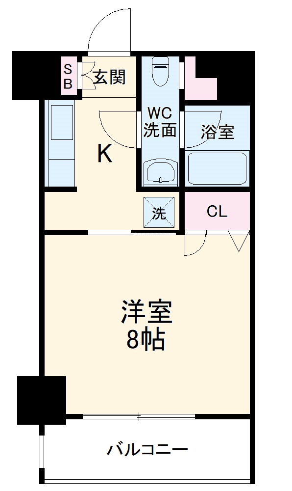 レジディア新横浜・306号室の間取り