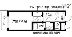 (仮称)千種区池園町学生マンション計画 102号室の間取り