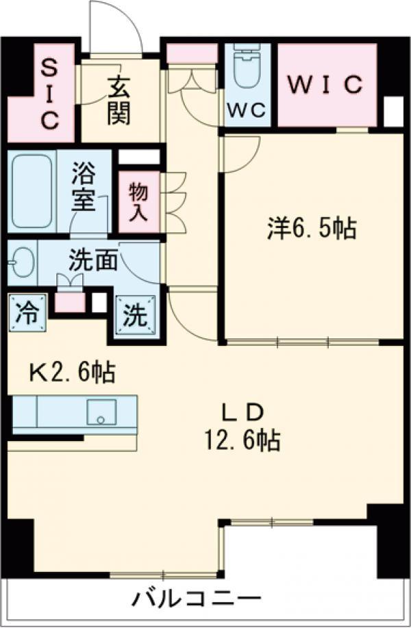 びゅうリエットグラン新宿戸山 519号室の間取り