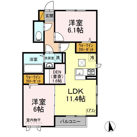仮)D-room守谷市本町 北側敷地・101号室の間取り