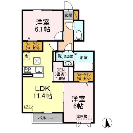 仮)D-room守谷市本町 北側敷地・102号室の間取り