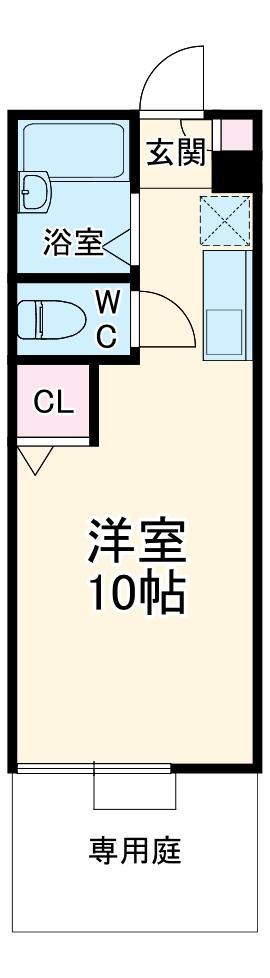 Art-Cept平出・102号室の間取り