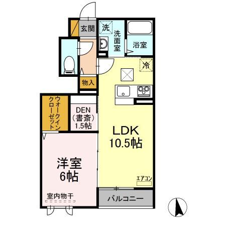仮)D-room守谷市本町 北側敷地・103号室の間取り