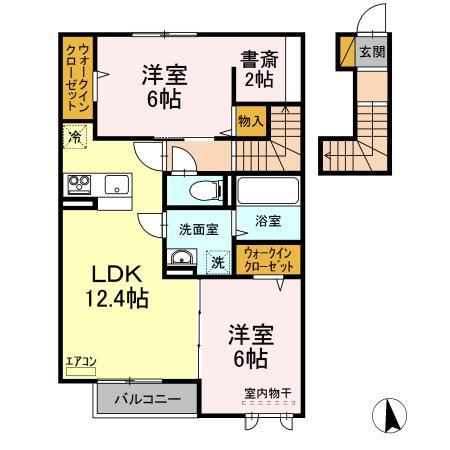 仮)D-room守谷市本町 北側敷地・202号室の間取り