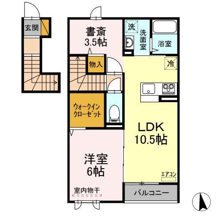 仮)D-room守谷市本町 北側敷地・203号室の間取り