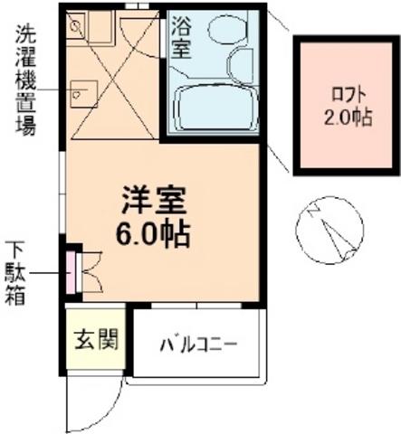 エスポワール北新宿第3・101号室の間取り