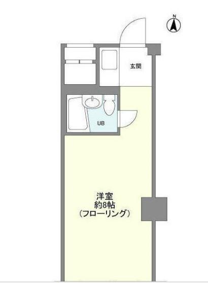 東中野アパートメンツ・7F号室の間取り