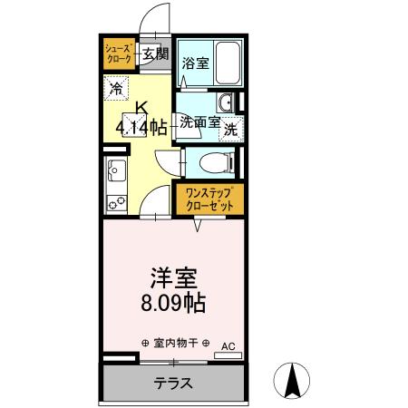 仮)D-room岡田 103号室の間取り