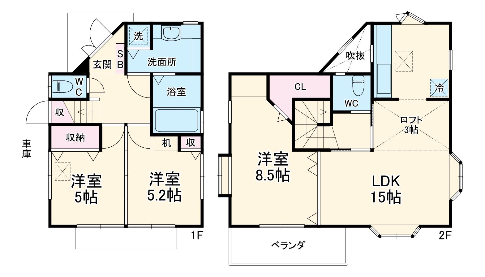 さいたま市中央区下落合3丁目住宅・1号室の間取り