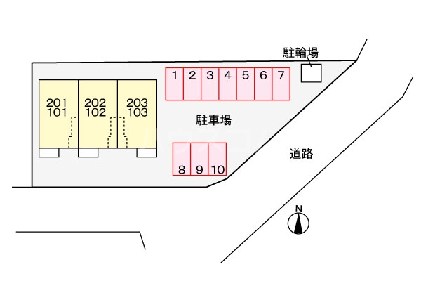 カーサ 神宮 misono 01030号室のエントランス