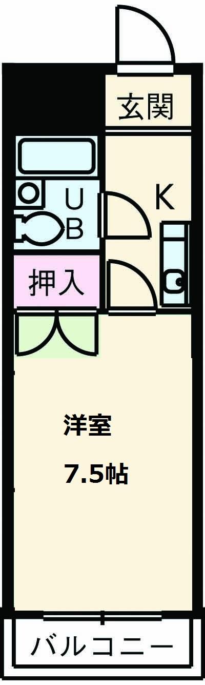 長岡ロイヤルパレス・B203号室の間取り