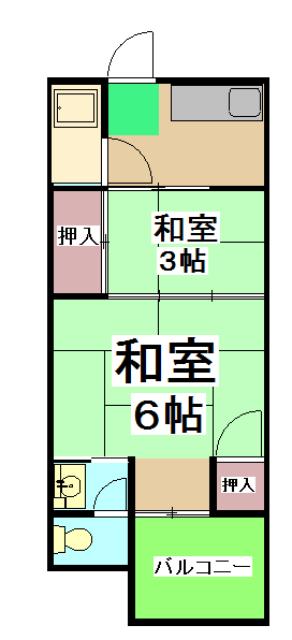 山田ハイツ・3号室の間取り