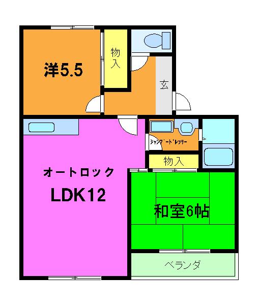 カーサOBATA 208号室の間取り