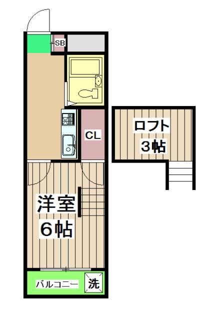 Kozy3番館 210号室の間取り