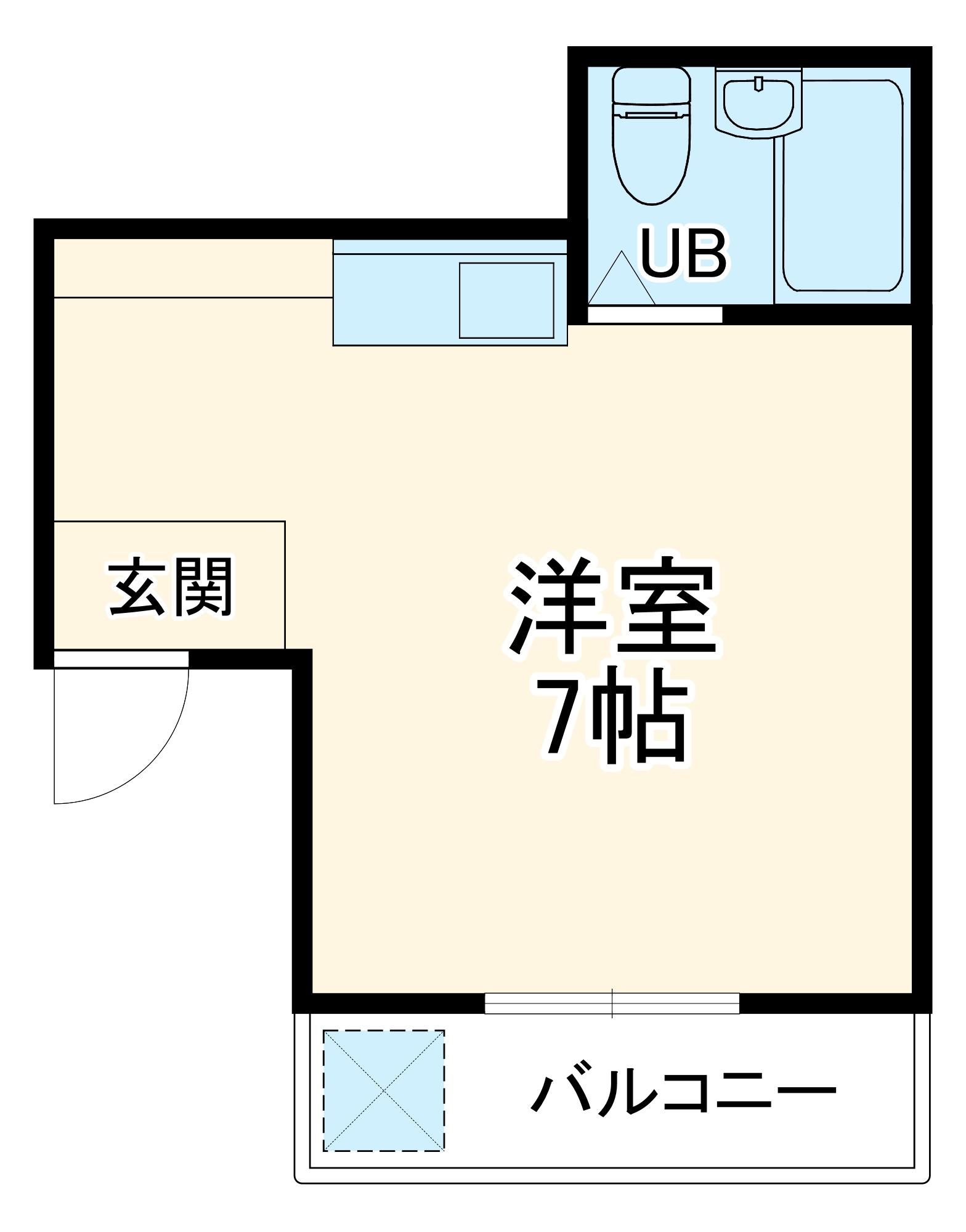カプチーノ川島 302号室の間取り