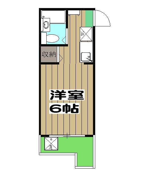 ZENマンションⅠ・401号室の間取り