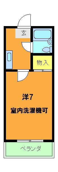ハイデンス岡田・202号室の間取り