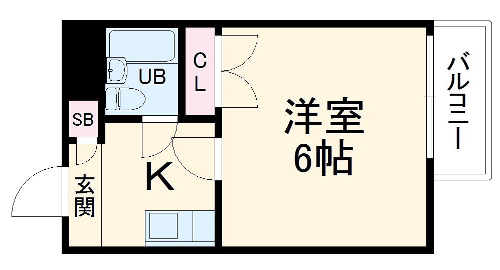 コーポ平成 306号室の間取り