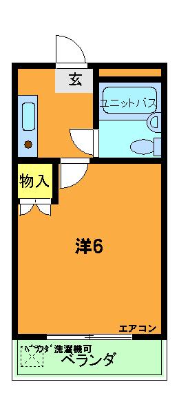グリーンヒル山田・202号室の間取り