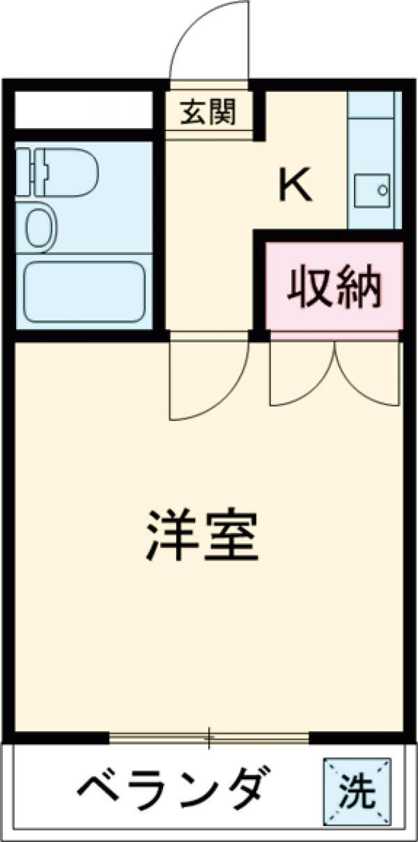 藤ハイツ桜・202号室の間取り