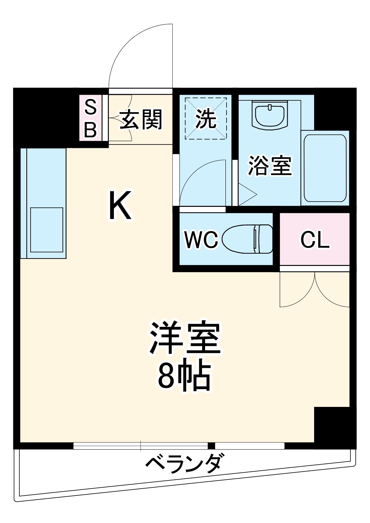SWEETNESS HOUSE・201号室の間取り