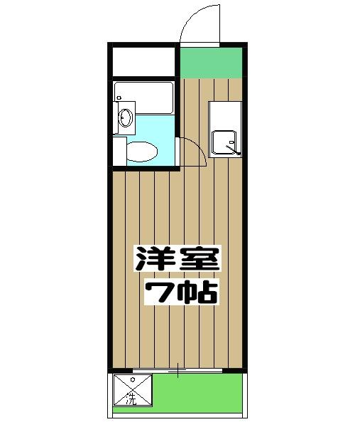 カプチーノ太秦・304号室の間取り