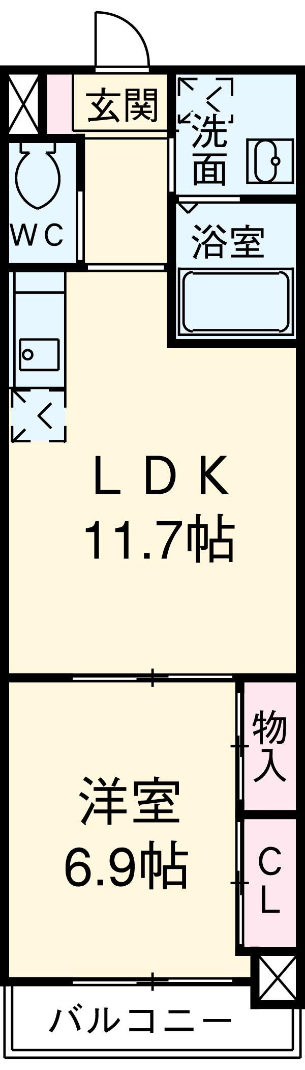 iランド川崎・602号室の間取り