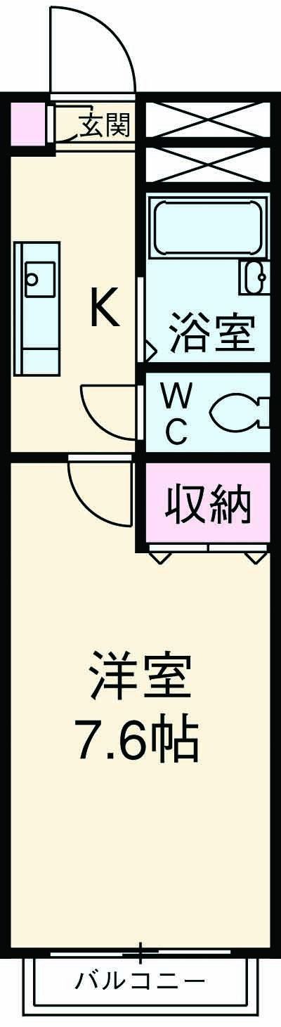 アンプルールフェール上福岡Ⅱ・203号室の間取り