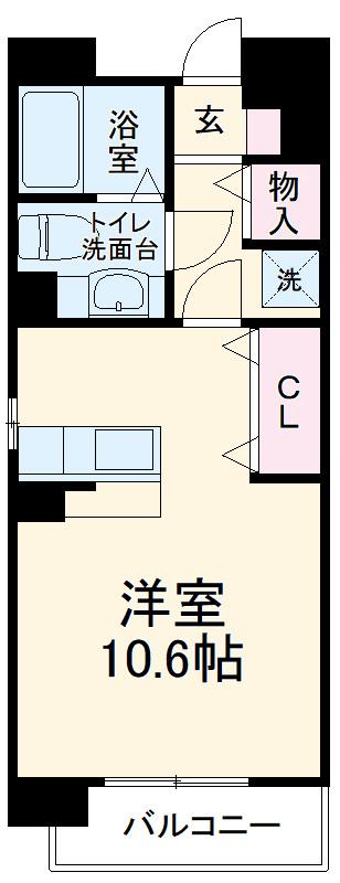 エスタシオン高石・405号室の間取り