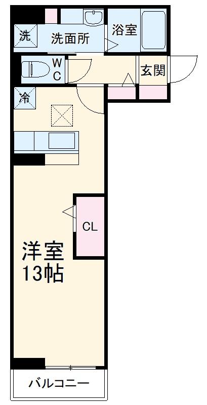 (仮)D-room馬橋・202号室の間取り