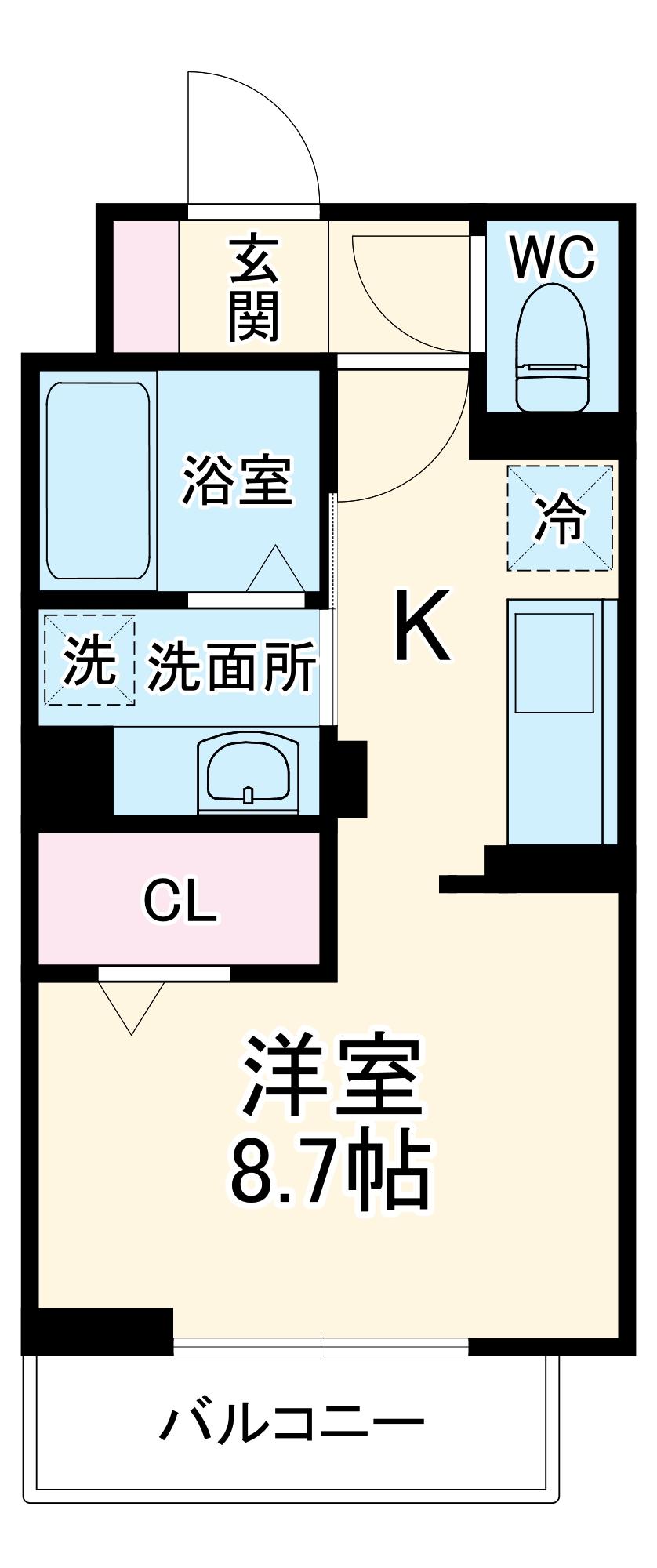 (仮)D-room馬橋・205号室の間取り