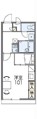 レオパレスNeo 深阪・212号室の間取り
