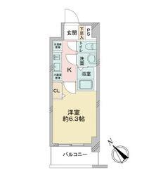 アステリ鶴舞エーナ 205号室の間取り