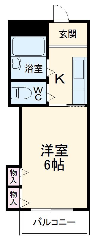 シャルマンフジ東岸和田弐番館・302号室の間取り