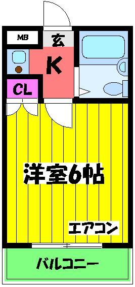 ユウパレス穴田・5G号室の間取り