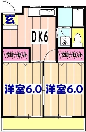 藤井マンション・205号室の間取り