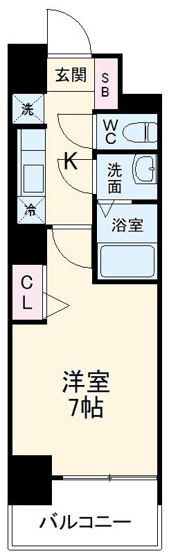 アステリ鶴舞エーナ・207号室の間取り
