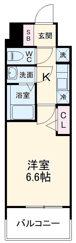 アステリ鶴舞エーナ・208号室の間取り