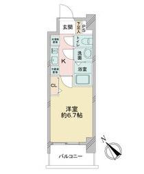 アステリ鶴舞エーナ・209号室の間取り