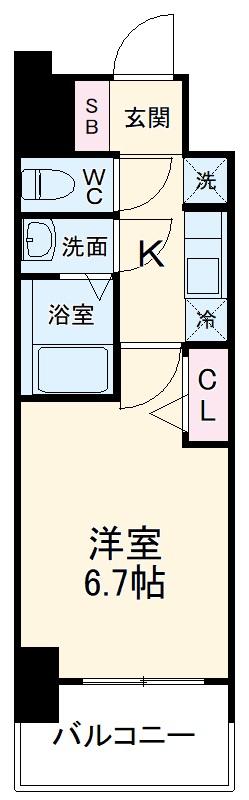 アステリ鶴舞エーナ・210号室の間取り